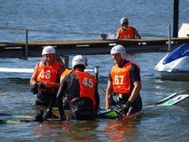 Esquiadores da água, Lublin, Poland Foto de Stock