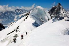 Esquiadores de Backcountry Foto de archivo libre de regalías