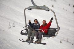 Esquiadores de la montaña Foto de archivo libre de regalías