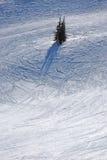 Esquiadores de la pista fotografía de archivo libre de regalías