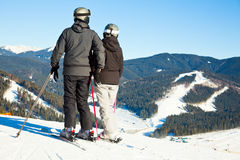 Esquiadores en un piste Imagen de archivo