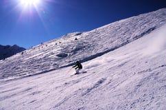 Esquiando em Gastein mau, Áustria fotografia de stock