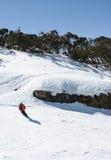 Esquiando en Victoria, Australia imagen de archivo libre de regalías