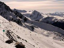 Esquiando a geleira Fotografia de Stock Royalty Free