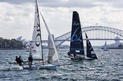 esquifes de 18 pés em Sydney Harbour Fotografia de Stock