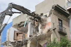 Esquileos hidráulicos de la altura de la demolición Fotografía de archivo