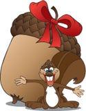 Esquilo com bolota Imagens de Stock