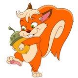 Esquilo com prendedor feliz Fotografia de Stock