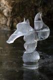 Esquilo da estatueta do gelo na caverna Foto de Stock Royalty Free