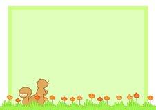 Esquilo dos desenhos animados - página vazia ilustração royalty free
