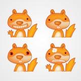 Esquilo engraçado bonito dos desenhos animados Ilustração do vetor Fotografia de Stock Royalty Free