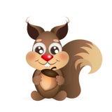 Esquilo feliz dos desenhos animados Imagens de Stock Royalty Free