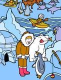 Esquimó em Alaska Fotografia de Stock