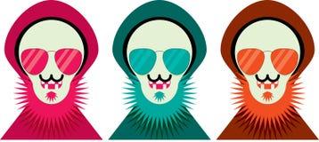 Esquimós nas máscaras ilustração stock