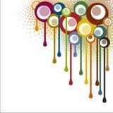 Esquina abstracta de los puntos de las pinturas Imagen de archivo libre de regalías