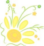 Esquina asoleada de la flor libre illustration