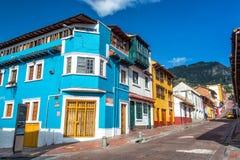 Esquina de calle de Bogotá, Colombia Fotos de archivo libres de regalías