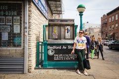 Esquina de calle de Brooklyn Imágenes de archivo libres de regalías