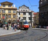Esquina de calle de Praga Imagenes de archivo