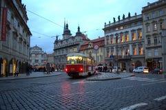Esquina de calle de Praga fotos de archivo libres de regalías