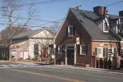 Esquina de calle en Chapel Hill, Carolina del Norte Fotos de archivo libres de regalías