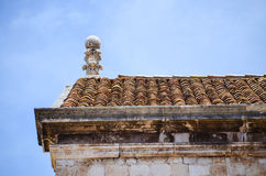 Esquina de Hous en la ciudad vieja de Dubrovnik Imagenes de archivo
