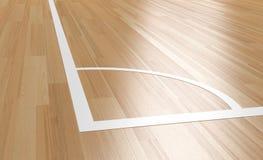 Esquina de la corte de madera interior ilustración del vector