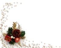 Esquina de la decoración de la Navidad Imagen de archivo libre de regalías