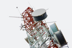Esquina de la diagonal de la torre de comunicaciones Imagenes de archivo