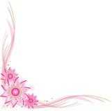 Esquina de la flor del resorte ilustración del vector