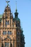 Esquina de la Hamburgo Rathaus imagen de archivo libre de regalías
