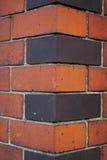 Esquina de la pared de Brich Fotografía de archivo