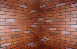 Esquina de la pared de ladrillo Foto de archivo libre de regalías