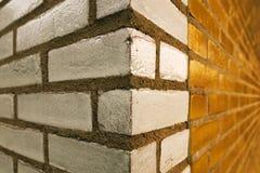 Esquina de la pared de ladrillo Imagen de archivo libre de regalías