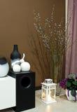 Esquina de la sala de estar adornada Imagenes de archivo