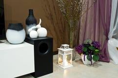 Esquina de la sala de estar adornada Fotografía de archivo libre de regalías