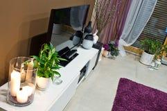 Esquina de la sala de estar adornada Foto de archivo libre de regalías