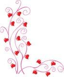 Esquina de la tarjeta del día de San Valentín Imágenes de archivo libres de regalías