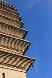 Esquina de la torre cuadrada Foto de archivo libre de regalías