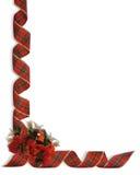 Esquina de las cintas y de las flores de la Navidad libre illustration