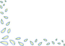 Esquina de las hojas imagen de archivo