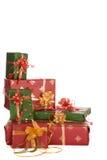 Esquina de los regalos de Navidad Imagenes de archivo