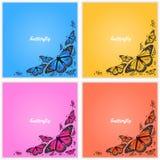Esquina de mariposas Fotografía de archivo