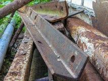 Esquina de metal oxidada Fotografía de archivo