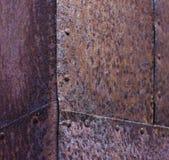 Esquina de metal oxidada Imagen de archivo libre de regalías