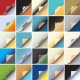 Esquina de papel Imagen de archivo libre de regalías