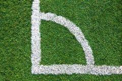 Esquina de un campo de fútbol Imagen de archivo libre de regalías