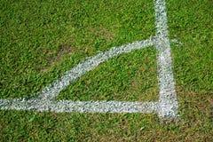 Esquina de un fútbol Foto de archivo libre de regalías
