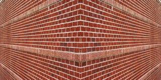 Esquina de una pared de ladrillo Foto de archivo libre de regalías