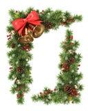 Esquina del árbol de navidad Imagenes de archivo